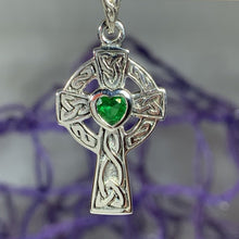 Load image into Gallery viewer, Celtic Cross Heart Necklace