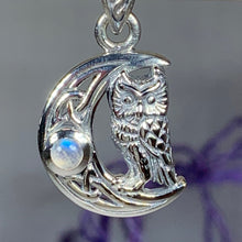 Load image into Gallery viewer, Owl Crescent Moon Necklace