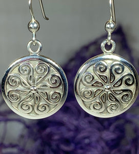 Edana Celtic Spiral Earrings