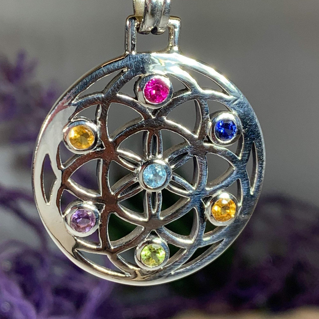 Rainbow Mandala Necklace
