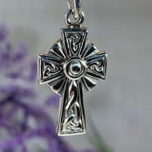 Load image into Gallery viewer, Celtic Knotwork Cross Necklace