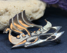 Load image into Gallery viewer, Viking Ship Brooch