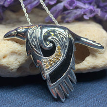 Load image into Gallery viewer, Birget Celtic Raven Necklace