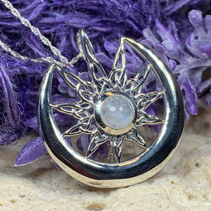 Moon Celtic Star Necklace