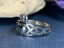 Load image into Gallery viewer, Irish Claddagh Trinity Knot Ring