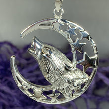 Load image into Gallery viewer, Celestial Howling Wolf Necklace