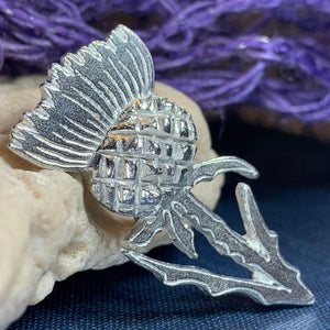 Brave Little Thistle Brooch
