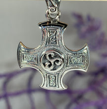 Load image into Gallery viewer, Triskelion Celtic Cross Necklace