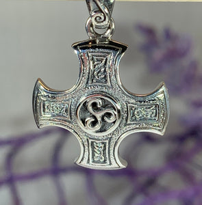 Triskelion Celtic Cross Necklace