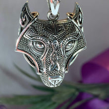 Load image into Gallery viewer, Viking Wolf Necklace