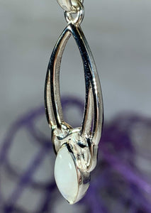 Moonstone Trinity Knot Necklace