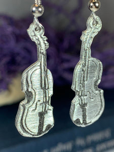 Irish Fiddle Celtic Earrings