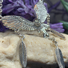 Load image into Gallery viewer, Owl & Feathers Celtic Necklace