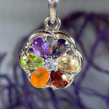 Load image into Gallery viewer, Rainbow Flower Necklace