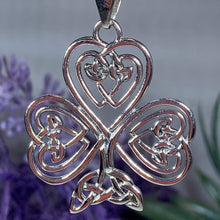 Load image into Gallery viewer, Celtic Knot Shamrock Necklace