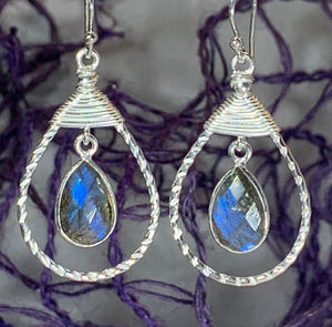 Celtic Knot Labradorite Earrings