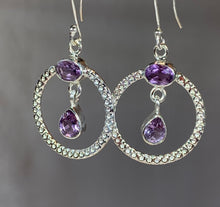 Load image into Gallery viewer, Celtic Gemstone Earrings