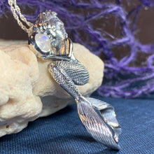 Load image into Gallery viewer, Moonstone Mermaid Necklace