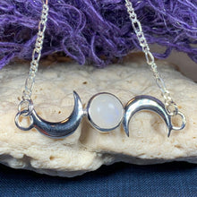 Load image into Gallery viewer, Nialla Triple Moon Necklace