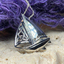 Load image into Gallery viewer, Celtic Sailboat Necklace