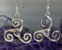 Load image into Gallery viewer, Triple Spiral Heart Earrings