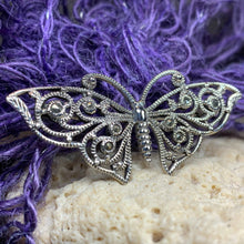 Load image into Gallery viewer, Marcasite Butterfly Brooch