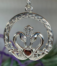 Load image into Gallery viewer, Celtic Swan Claddagh Necklace