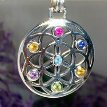 Load image into Gallery viewer, Rainbow Mandala Necklace