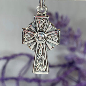 Celtic Knotwork Cross Necklace