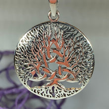 Load image into Gallery viewer, Tree of Life Triquetra Necklace