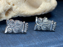 Load image into Gallery viewer, Silver Owl Stud Earrings