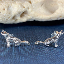 Load image into Gallery viewer, Howling Wolf Earrings