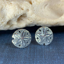 Load image into Gallery viewer, Sand Dollar Post Earrings