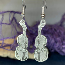 Load image into Gallery viewer, Irish Fiddle Celtic Earrings