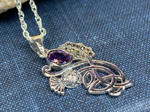 Amethyst Thistle Necklace