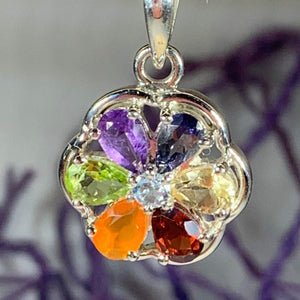 Rainbow Flower Necklace