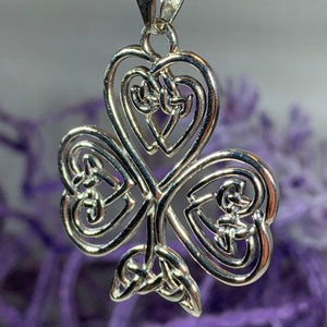 Celtic Knot Shamrock Necklace