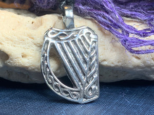 Irish Harp Necklace