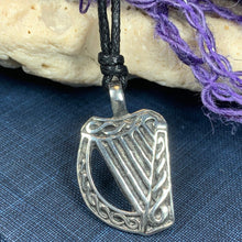 Load image into Gallery viewer, Irish Harp Necklace