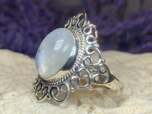 Load image into Gallery viewer, Celtic Knotwork Moonstone Ring