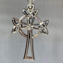 Load image into Gallery viewer, Trinity Celtic Cross Necklace