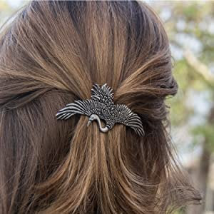Crane Hair Clip, Celtic Barrette, Bird Jewelry, Heron Jewelry, Friendship Gift, Wiccan Jewelry, Hair Jewelry, Nature Barrette
