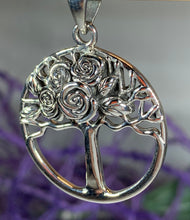 Load image into Gallery viewer, Roses Tree of Life Necklace