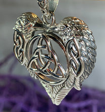 Load image into Gallery viewer, Celtic Raven Lovers Necklace