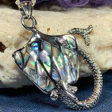 Load image into Gallery viewer, Abalone Manta Ray Necklace