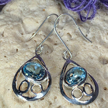 Load image into Gallery viewer, Celtic Infinity Topaz Earrings