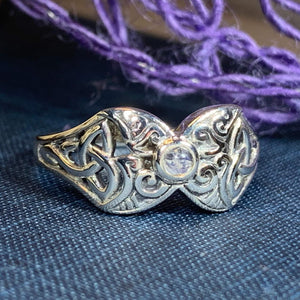 Celtic Triple Moon Ring