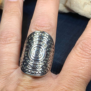 Celtic Shield Ring, Celtic Jewelry, Irish Jewelry, Celtic Warrior Jewelry, Irish Ring, Irish Gift, Anniversary Gift, Bridal Ring, Wiccan