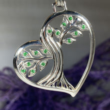 Load image into Gallery viewer, Tree of Life Necklace, Celtic Jewelry, Heart Pendant, Anniversary Gift, Friendship Gift, Graduation Gift, Survivor Gift, Nature Necklace
