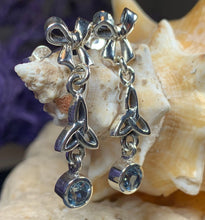 Load image into Gallery viewer, Trinity Knot Earrings, Celtic Jewelry, Mother's Knot Jewelry, Irish Jewelry, Bridal Jewelry, Wiccan Jewelry, Scotland Jewelry, Wife Gift